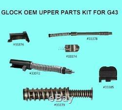 Pièces Supérieure Diapo Kit Glock 43 9 Millimètres Fits Diapositives Véritable Oem Glock Pièces