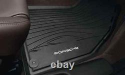 Porsche Cayman Rubber Floor 981c 14-16 Ensemble De 2 Oem Noir Véritable Porsche Pièces