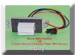 Résistance Moteur Du Ventilateur Avec 2 Têtes Électriques Pigtail Connecteur Gm Convient Véhicules