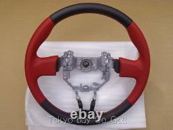 Scion Fr-s Toyota 86 Gt86 Zn6 Cuir Rouge Volant Véritable Partie Oem 12-15