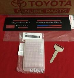 Toyota Ae86/gts 84-87 Plaque De Commande, Clé Blanche, Lentille Intérieure Oem Pièces Authentiques