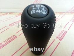 Toyota Land Cruiser 80 Cuir Noir 5speed Shift Lever Knob Véritables Pièces Oem