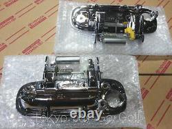 Toyota Mr2 Spyder Zzw30 Chrome Poignée De Porte Extérieure Lh+rh Set Nouveaux Pièces D'origine