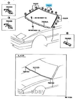 Toyota Supra Jza70 Mk3 Véritable Pare-brise Avant À Gazon Supérieur Moulage Des Pièces D'oem