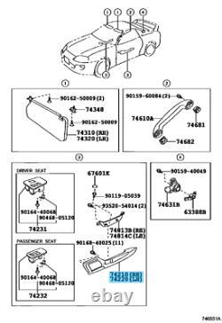 Toyota Supra Jza80 Mk4 Droite Et Gauche Ensemble Porte Arm Armoirie Oem Pièces Authentiques