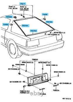 Toyota Supra Mk3 Jza70 Arrière Herbe Arrière Pare-brise Molding Ensemble Oem Pièces D'origine