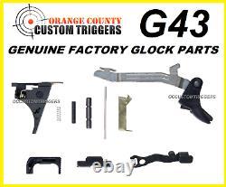 Véritable Glock 43 Complete Lower Parts 9mm Lpk Kit Ss-80 Pf9ss Avec Connecteur De 5,5 Lb