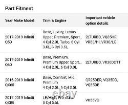 Véritable Infiniti Oem Bouton Poignée Shifter Q50 Q60 Qx60 Qx80 N ° 34910-9nf0b Nouveau