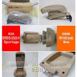 Véritable Pièces Oem Accoudoirs Console Double Beige Pour Kia Accrues D'05-10 Sportage