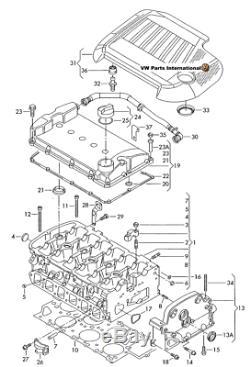 Vw Golf Mk4 R32 Moteur Culasse Reniflard Vent Tuyau Véritable Oem Vw New Partie