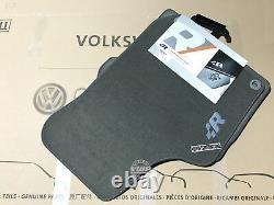 Vw Golf Mk4 R32 Tapis Gris Tapis Tapis Tapis R Logo Rhd Véritable Oem Pièces Main Droite
