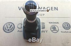 Vw Golf R32 4motion Mk4 Et Cuir Pommeau Gaiter Véritable Rare Oem Vw Partie